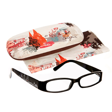 Set Brillenetui und Lesehilfe