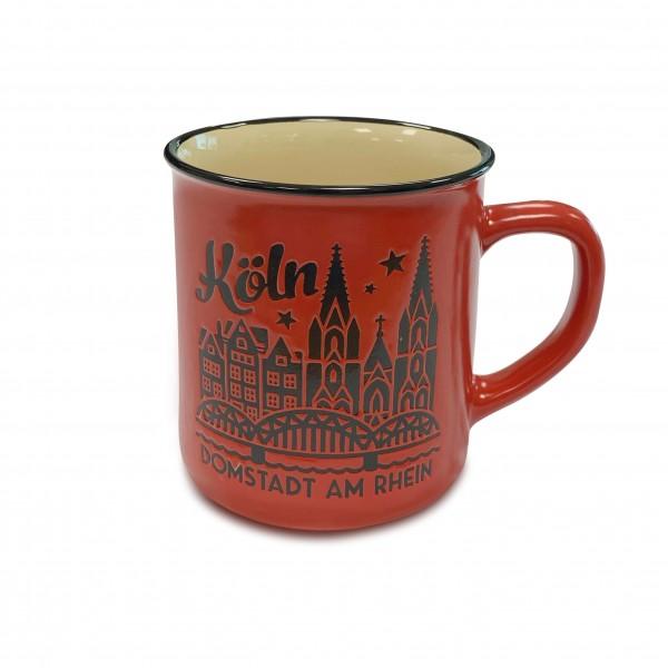 Köln Kaffeetasse - Domstadt, rot