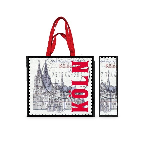 Einkaufstasche Briefmarke
