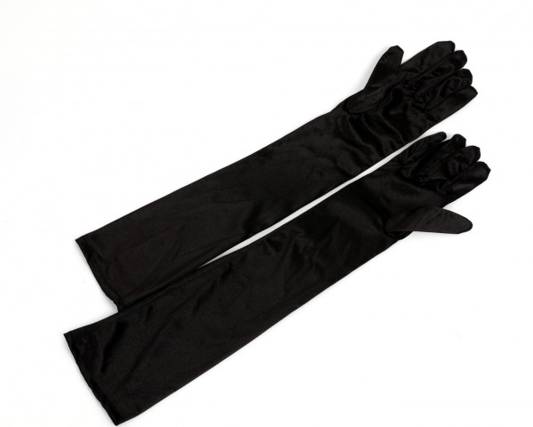 Extra lange Satin Handschuhe