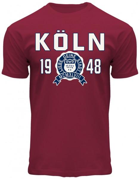 Köln College T-Shirt Herren, rot