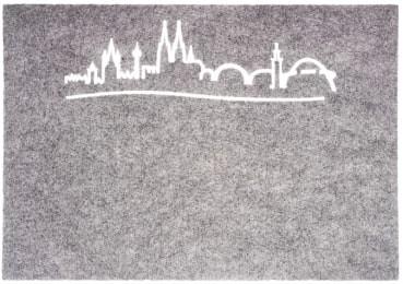 Tischset Skyline, grau