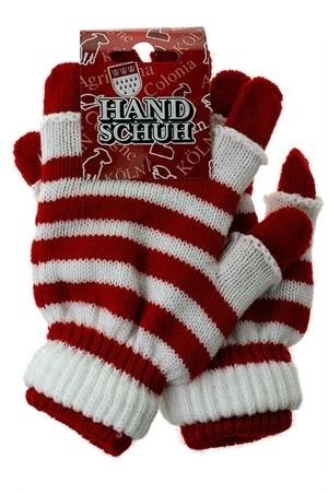 Handschuhe, rot-weiß