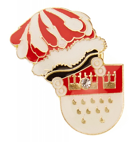 Pin mit Kölner Wappen und Hut