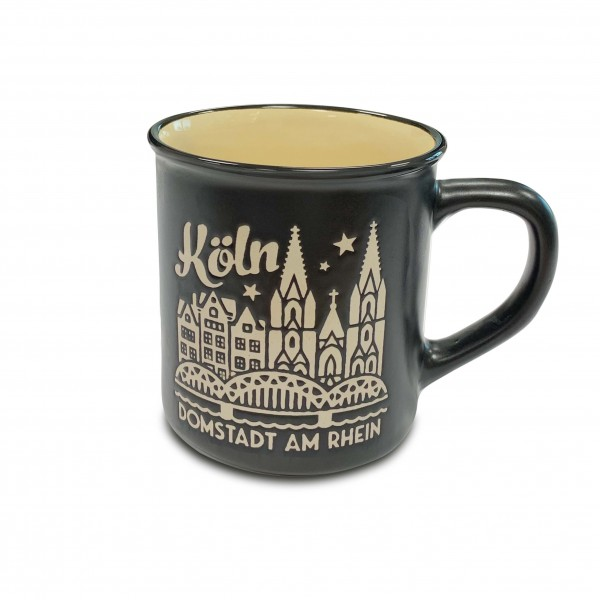 Köln Kaffeetasse - Domstadt, schwarz