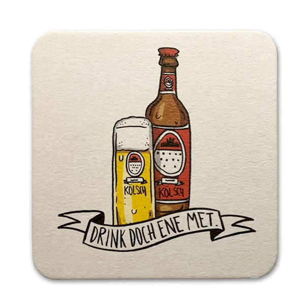 Bierdeckel Postkarte Drink doch ene met