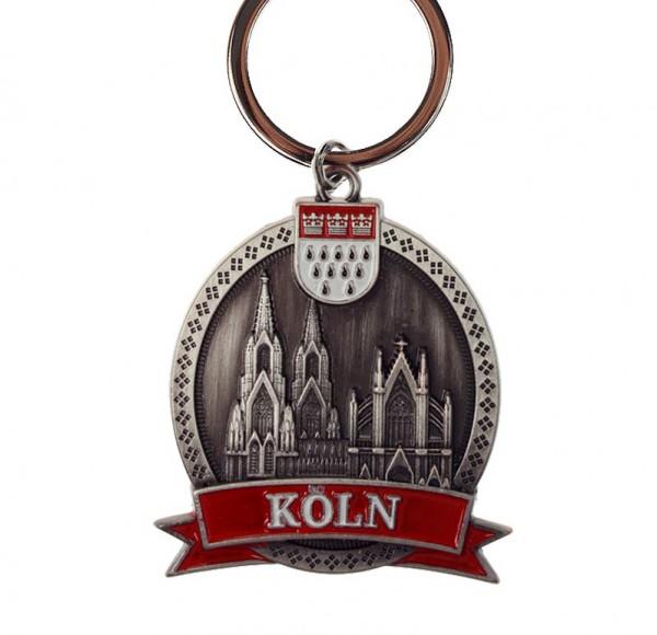 Schlüsselanhänger Kölner Dom rund