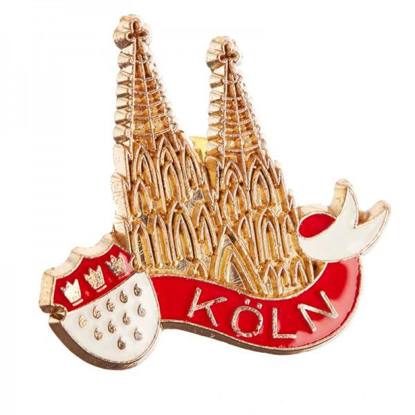 Kölner Dom Pin mit Wappen - Fahne