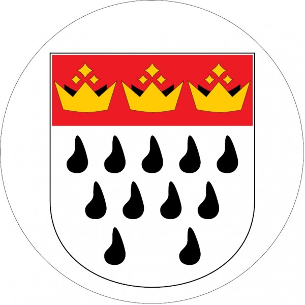 Aufkleber mit dem Kölner Wappen