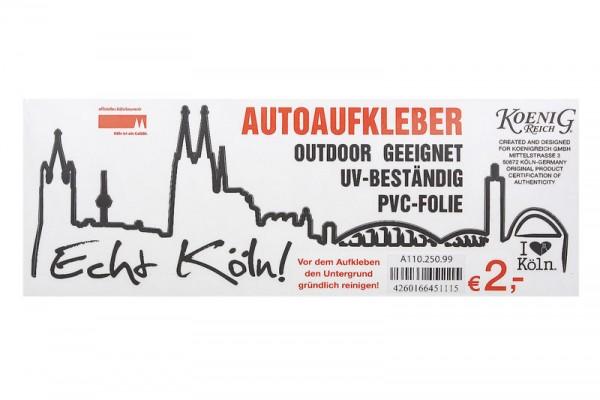 Aufkleber Echt Köln!, verschiedene Varianten