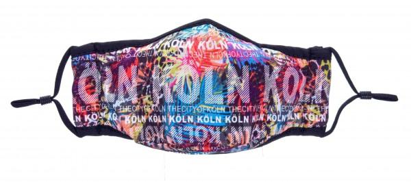 Köln Maske - Motiv Feuerwerk Mikrofaser (2er Set)