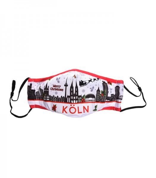 Köln Maske - Motiv Köln Weihnachtsmaske, weiß (2er Set)