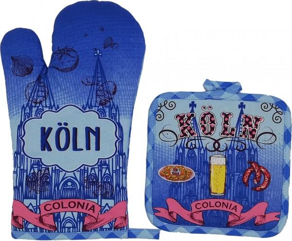 Köln - Colonia Topflappen & Handschuh Set