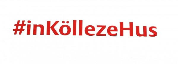 Autoaufkleber #inKöllezeHus, rot