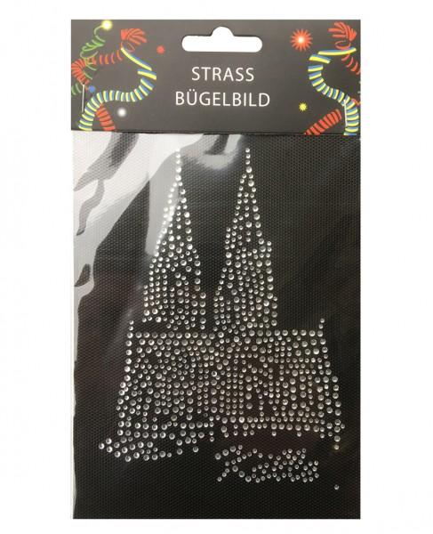 Strass-Bügelbild Dom, silber