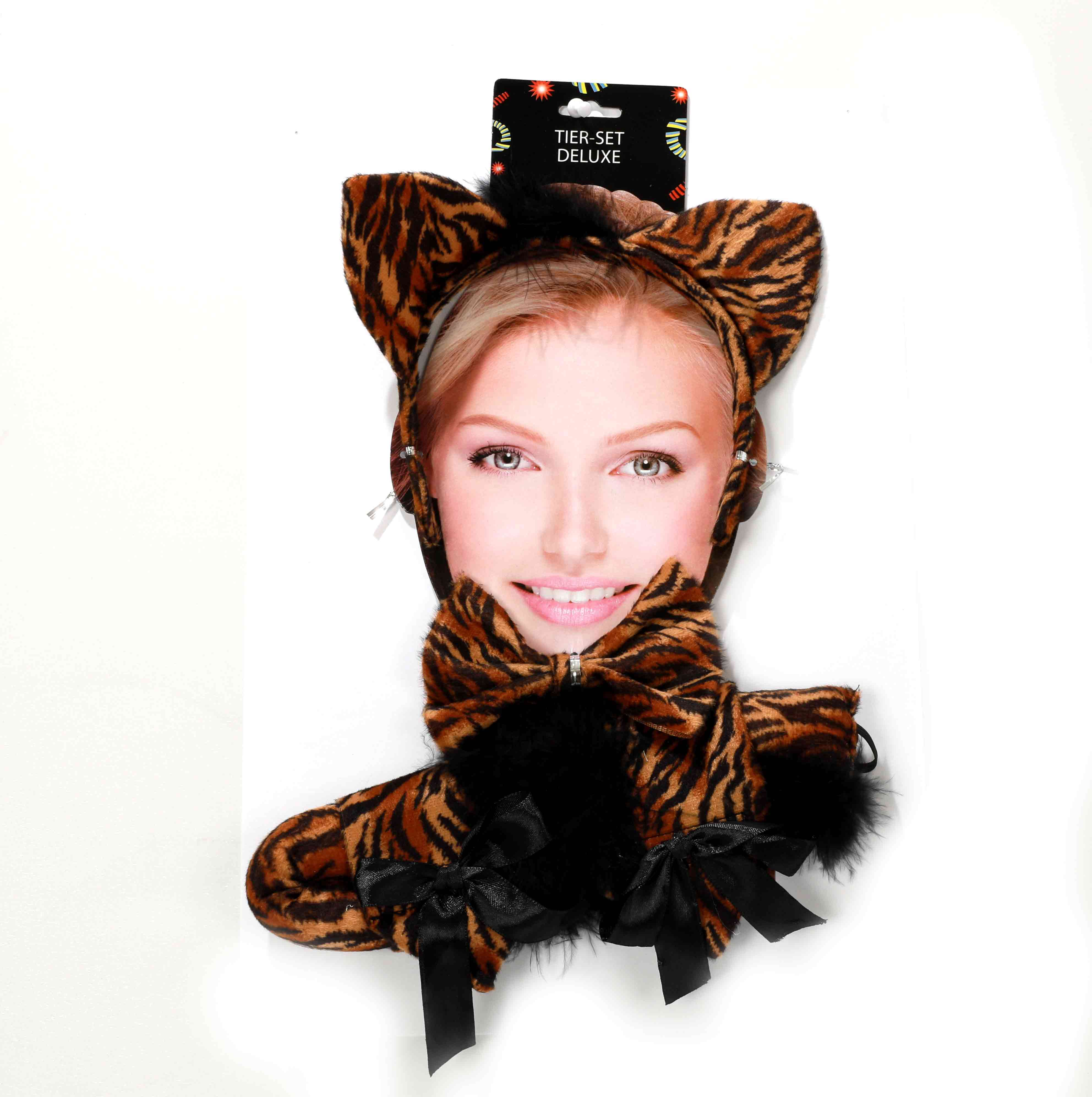 Maus Accessoire Set Tier Schwanz Ohren Haarreif Karneval