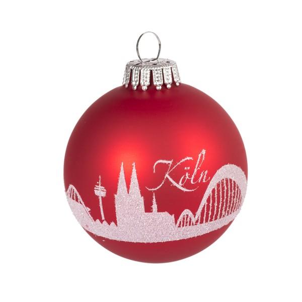 Weihnachtsbaumkugel Skyline