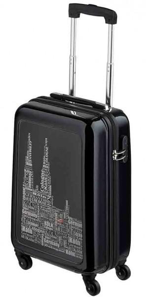 Köln Koffer schwarz / silber mit 4 Rollen