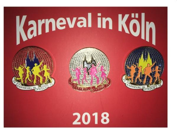 Pins Karneval in Köln 2018, 3er-Set