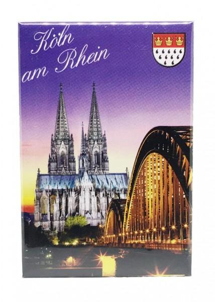 Magnet Kölner Dom und Hohenzollernbrücke, Dämmerung