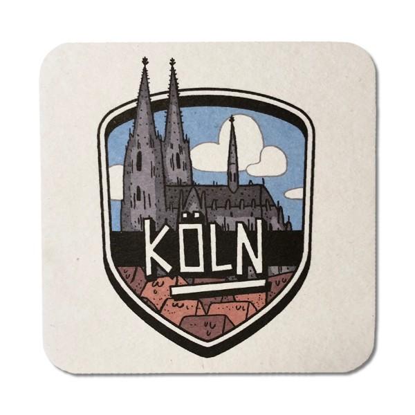 Bierdeckel-Postkarte Köln