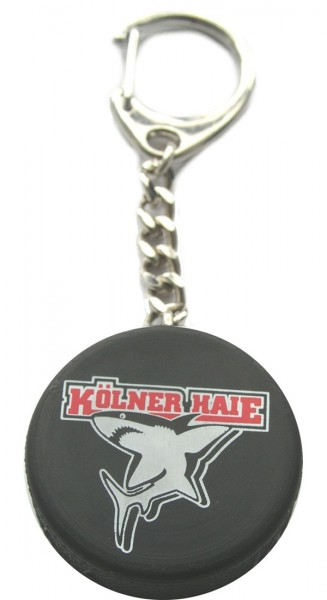 KEC Kölner Haie Schlüsselanhänger Puck mit Logo