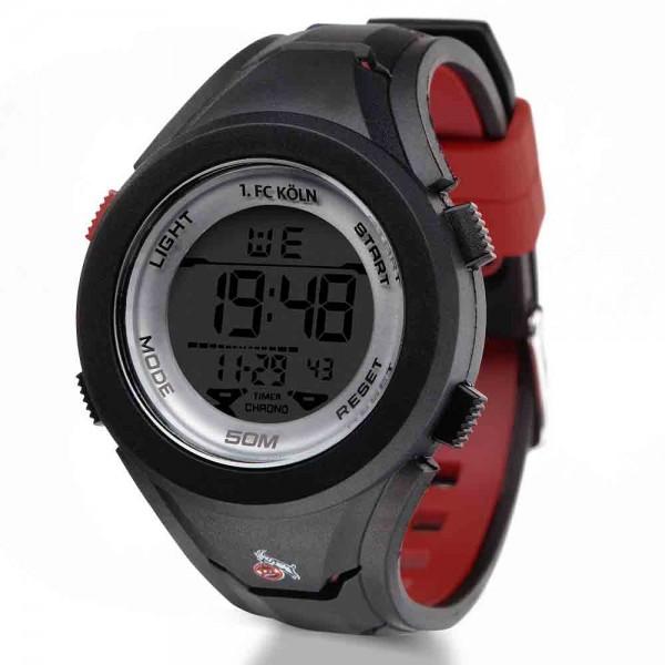 1. FC Köln digitale Armbanduhr, grau