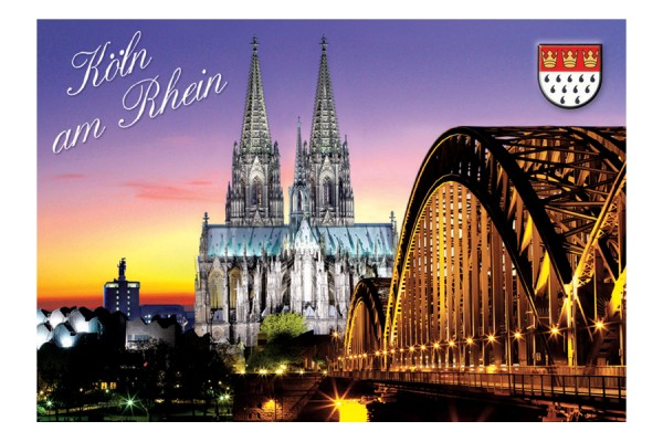 Magnet Kölner Dom bei Dämmerung